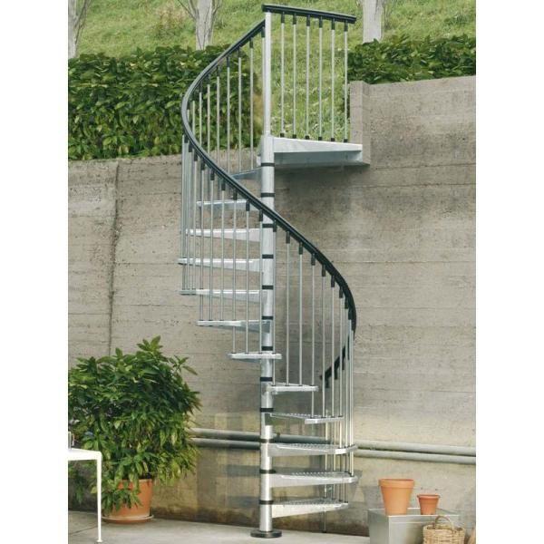 Arke Enduro 47 In Galvanized Steel Spiral Staircase Kit K05001 | Outdoor Spiral Staircase Home Depot | Reroute Galvanized | Handrail | Arke Nice1 | Arke Enduro | Galvanized Exterior