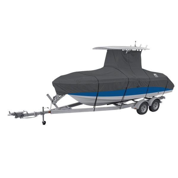 Classic Accessories StormPro 20   22 ft  Charcoal Grey T Top Boat     Classic Accessories StormPro 20   22 ft  Charcoal Grey T Top Boat Cover