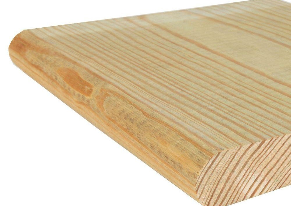 Kdat 2 In X 12 In X 12 Ft Pressure Treated Step Tread 263B152D | Wood Stair Treads Home Depot | Vinyl Flooring | Stair Risers | Indoor Stair | Tread Covers | Unfinished Pine Stair