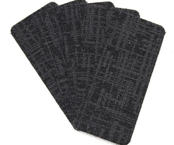 Nance Carpet And Rug Peel And Stick Charcoal Indoor Outdoor 8 In   Outdoor Stair Treads Home Depot   Vinyl Stair Risers   Cedar Tone   Square Nose Stair   Carpet   Non Slip
