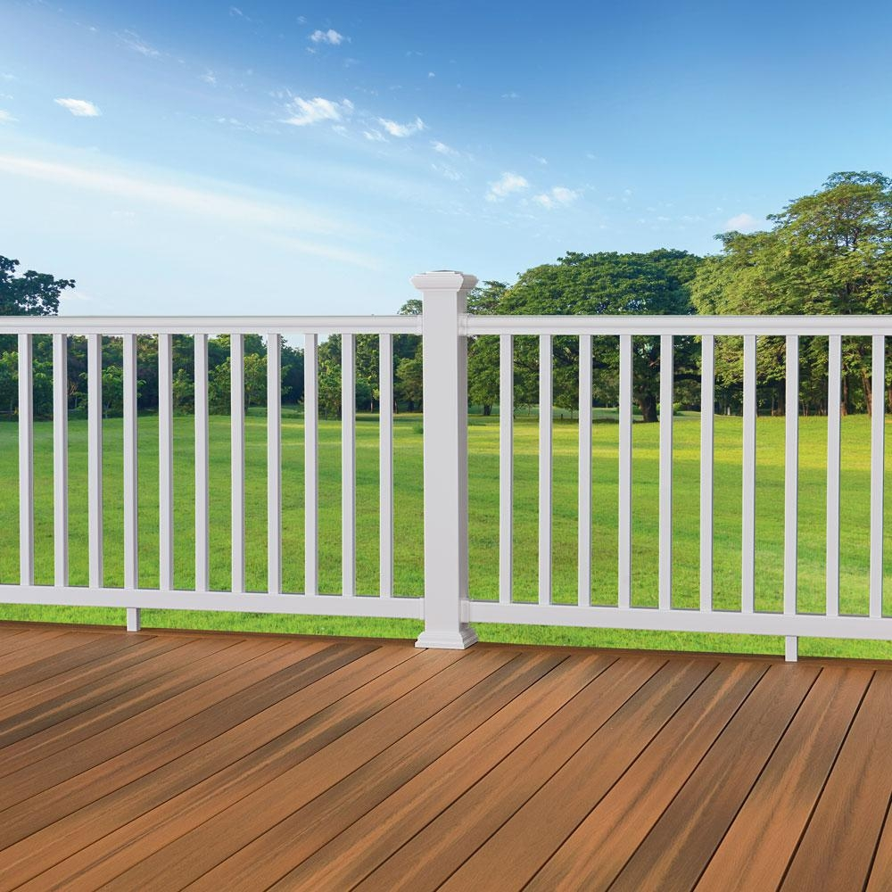 Fiberon Armorguard Deluxe 94 In White Composite Rail Kit Sec19 Dw   Deluxe Stair And Railing   Houzz   Wood Railings   Wood   Railing Ltd   Deluxe Indoor