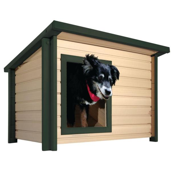Medium to Large   Dog Houses   Dog Carriers  Houses   Kennels   The     EcoFLEX Rustic Lodge Medium Dog House