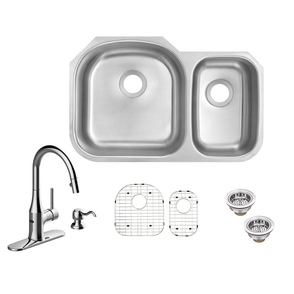 60 40 Sink Sink Undermount Prep Kitchen