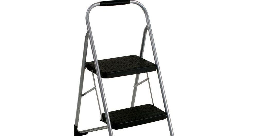 Cosco 2 Step Steel Big Step Stool Ladder With 200 Lbs Load | Metal Steps Home Depot | Roofing | Galvanized Steel | Step Stool | Gorilla Ladders | Wrought Iron Railings