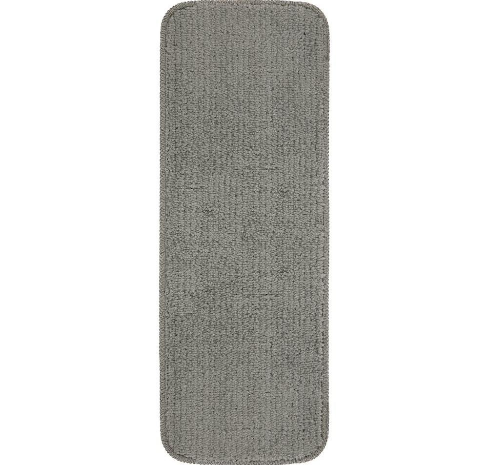 Ottomanson Softy Dark Grey 9 In X 26 In Non Slip Stair Tread | Ottomanson Softy Stair Treads | Carpet Stair | Softy Carved | Amazon | Softy Collection | Non Slip Stair