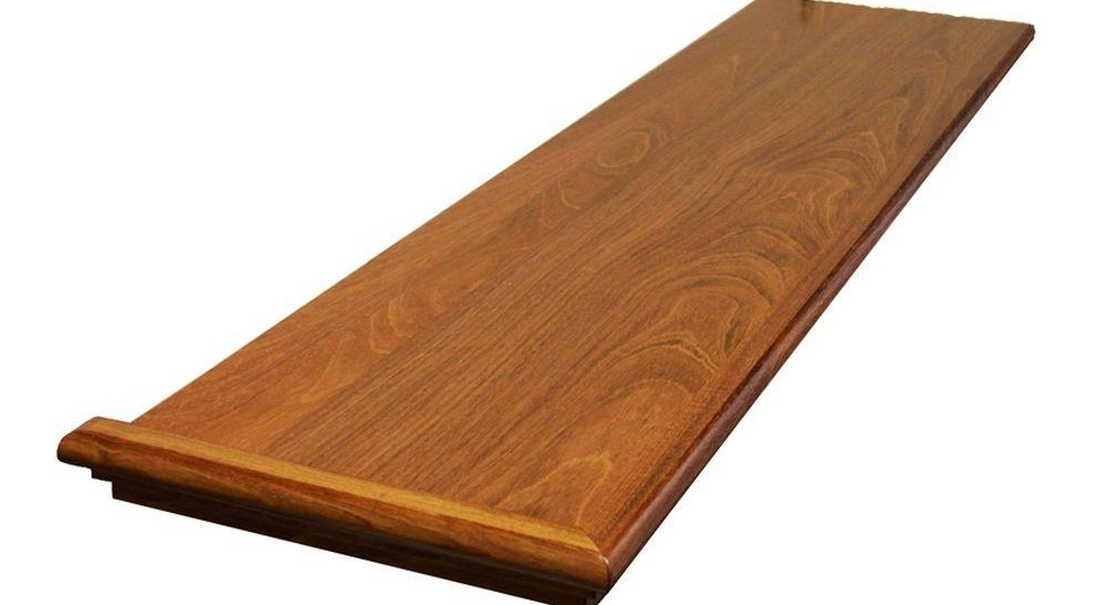 Stairtek 625 In X 11 5 In X 48 In Prefinished Natural   Home Depot Hardwood Stair Treads