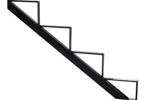 Pylex 4 Steps Steel Stair Stringer Black 7 1 2 In X 10 1 4 In | Outdoor Wood Steps Home Depot | Treated Wood | Handrail | Spiral Staircase | Staircase | Concrete Steps