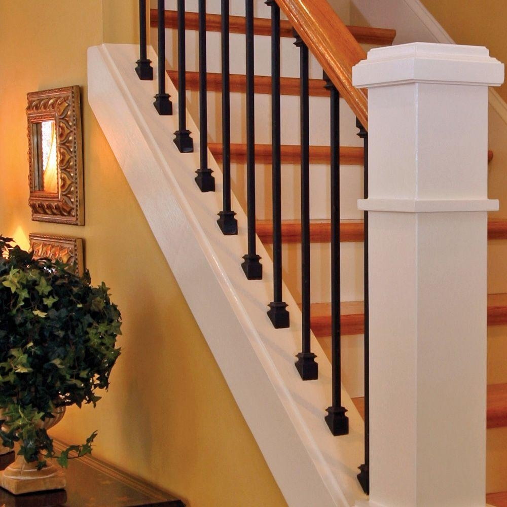 Stair Parts 5 8 In Satin Black Metal Angled Baluster Shoe I350D | Black Iron Stair Railing | Wrought Iron | Staircase | Beautiful Staircase | Outdoor Handrail Stair | Residential Stair