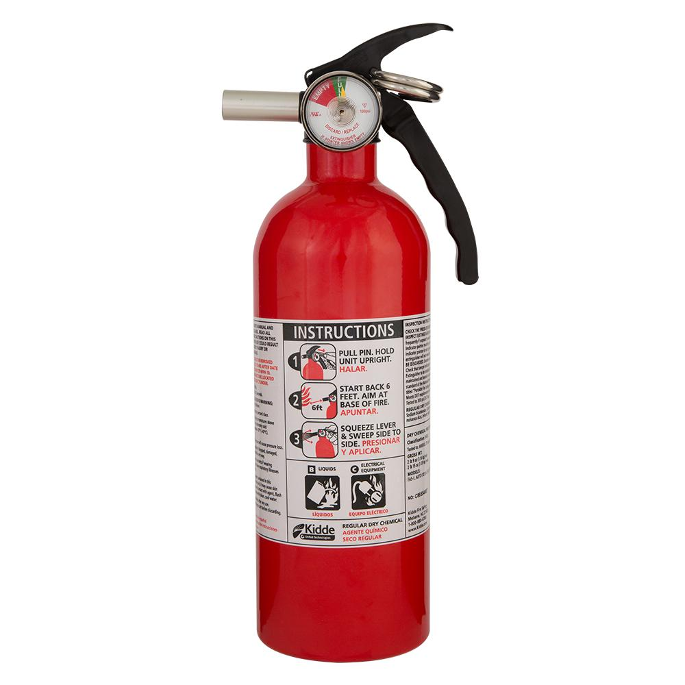 Kidde 5-B:C Rated Disposable Fire Extinguisher-21027413MTL ...