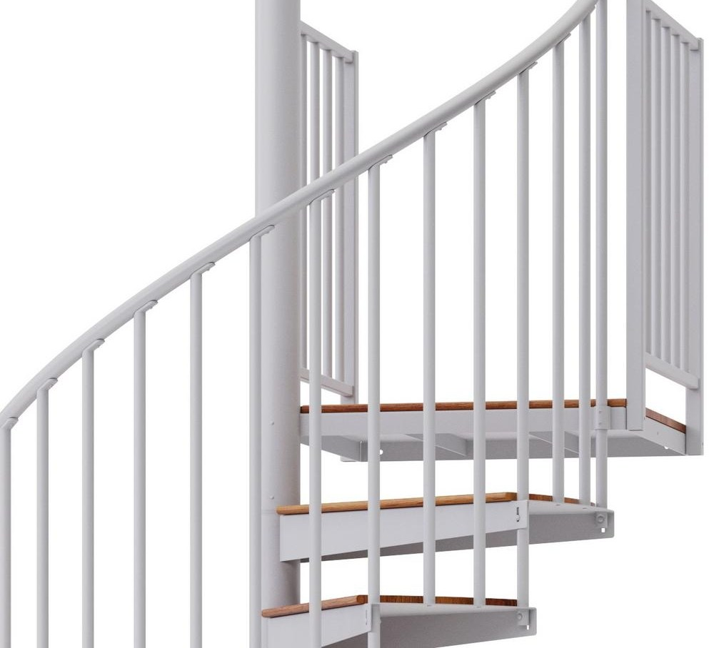 Mylen Stairs Condor White Interior 60 Diameter 14 Treads With 2   Spiral Staircase Home Depot   Steel   90 Degree   Alternating Tread   Outdoor   Small Metal