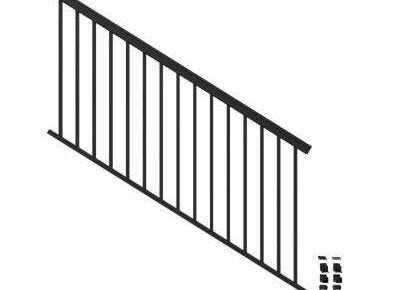 Aluminum Outdoor Handrails Deck Stairs The Home Depot | Handrails For Outside Steps | Single Step | Rustic | Aluminum | Front Porch | Walkway