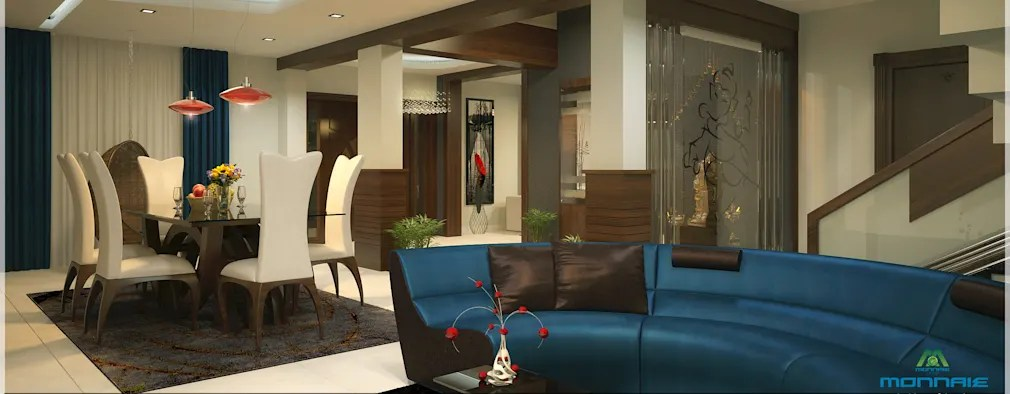 A beautiful Indian home for a happy family Contemporary Interior Design  modern Living room by Premdas Krishna