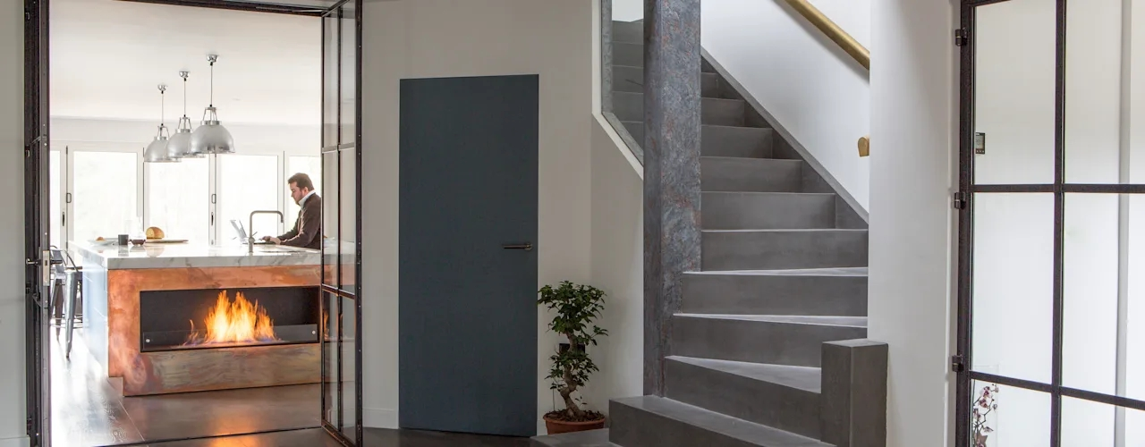 15 Concrete Stair Samples For Small Houses Homify Homify | Duplex Staircase For Small House | Tiny Staircase | Traditional | Small Space | Wooden Stair | Readymade