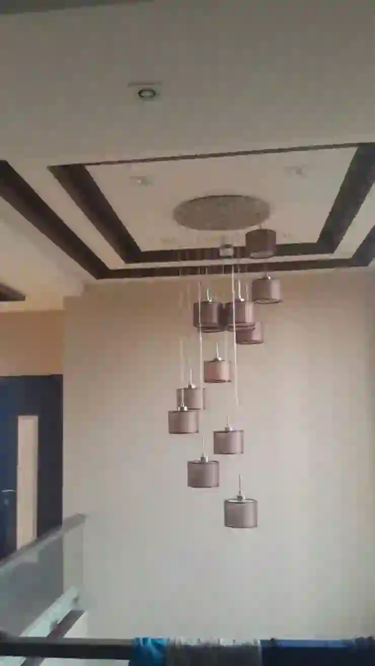 False Ceiling With Light Asian Style Corridor Hallway Stairs By   Staircase False Ceiling Design   High Ceiling   Outside Wall   Interior   Fall Ceiling   Grand