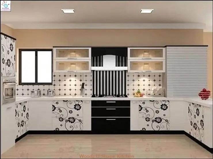 U Shaped Indian Kitchen