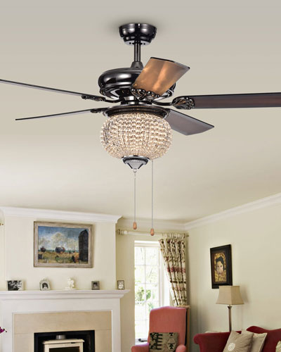crystal chandelier with fan # 70
