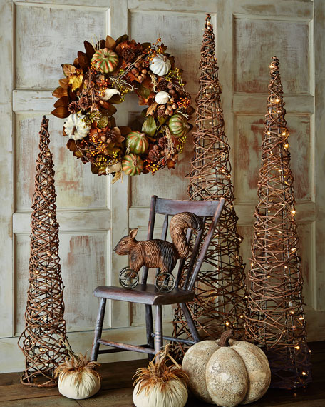 Lighted Grapevine Cone Trees 3 Piece Set