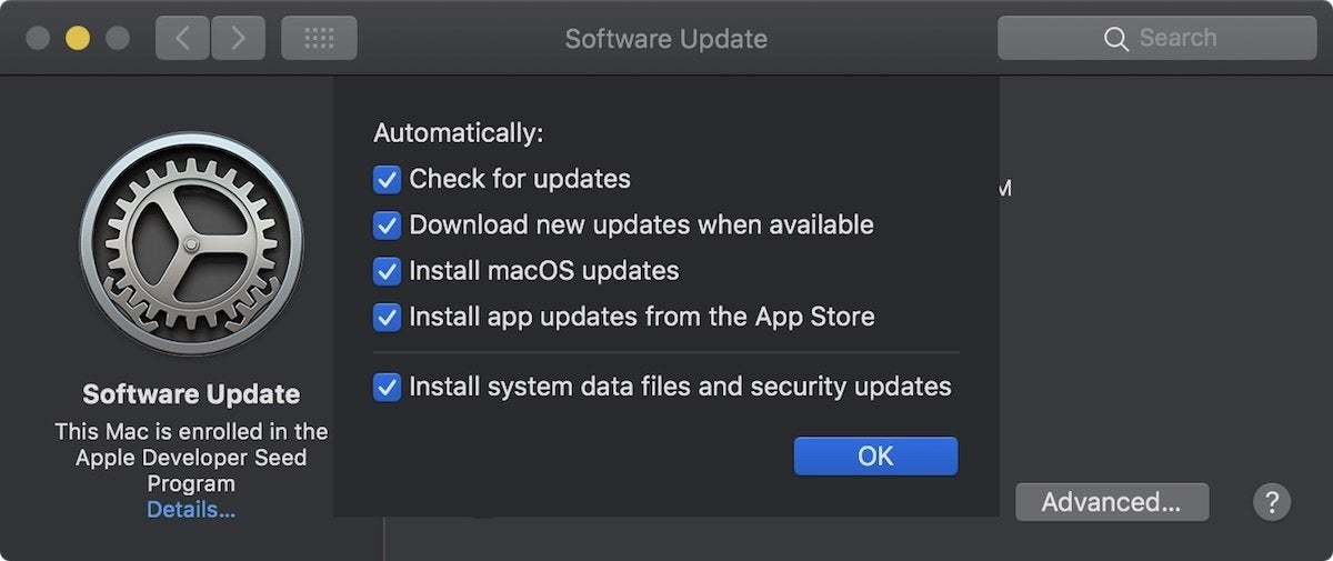 MacOS Mojave  How to perform system updates   Macworld macos mojave software update advanced settings