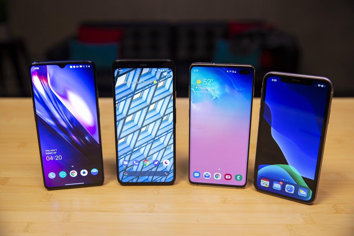 Iphone 11 Vs Oneplus 7t Galaxy S10 Pixel 4 Xl A