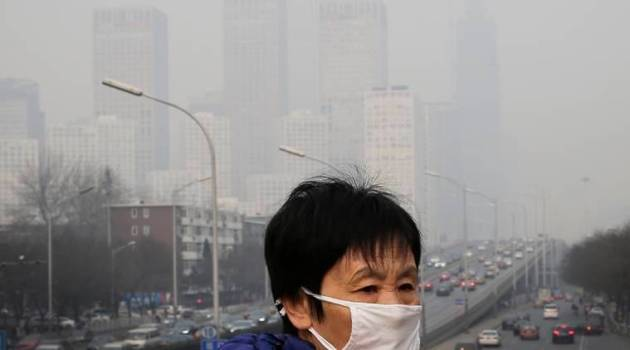 Smog in Beijing clears after rains   The Indian Express China  China weather  Beijing  Beijing weather  smog in Beijing  pollution