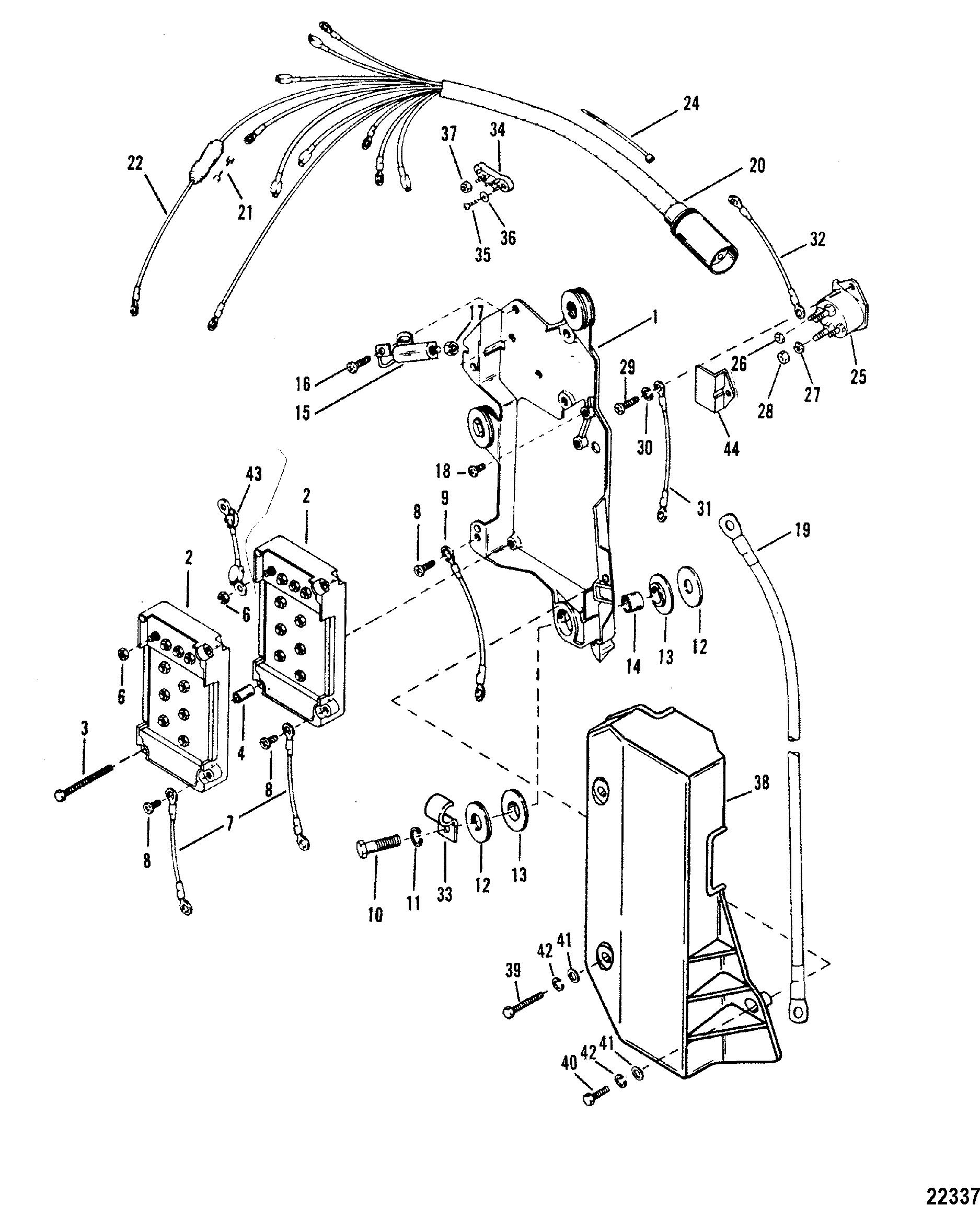Wiring harness starter solenoid for mariner mercury 175 xri 175