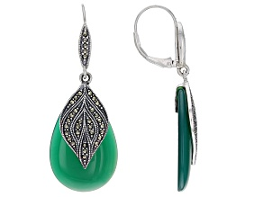 Onyx Jewelry  Shop Black Onyx Jewelry   More   JTV com Green onyx sterling silver dangle earrings
