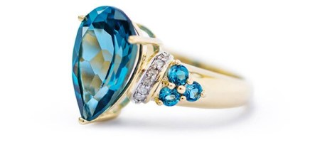 Jewelry   Shop Jewelry Online   JTV com London Blue Topaz Yellow Gold Ring
