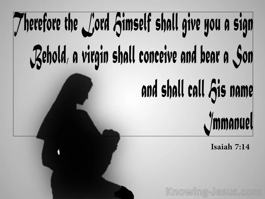 Isaiah 7 14 Behold A Virgin Shall Conceive Gray