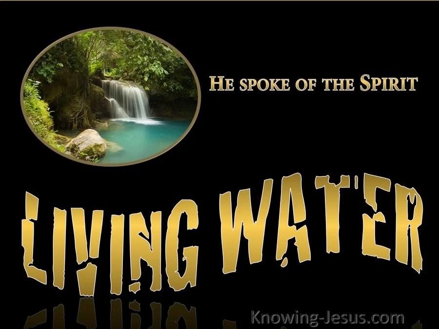 John 7 39 Living Water Gold