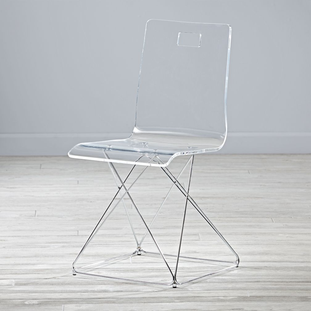 Now You See It Acrylic Desk Chair The Land Of Nod