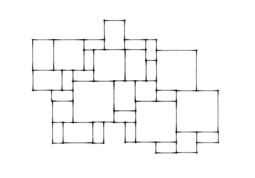 Random Flagstone Pattern Layout