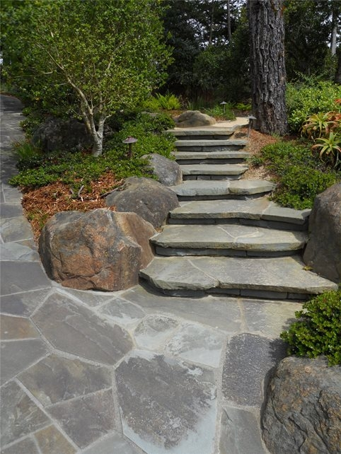 Entryways Steps And Courtyard Calimesa Ca Photo | Granite Stone Steps Outdoor
