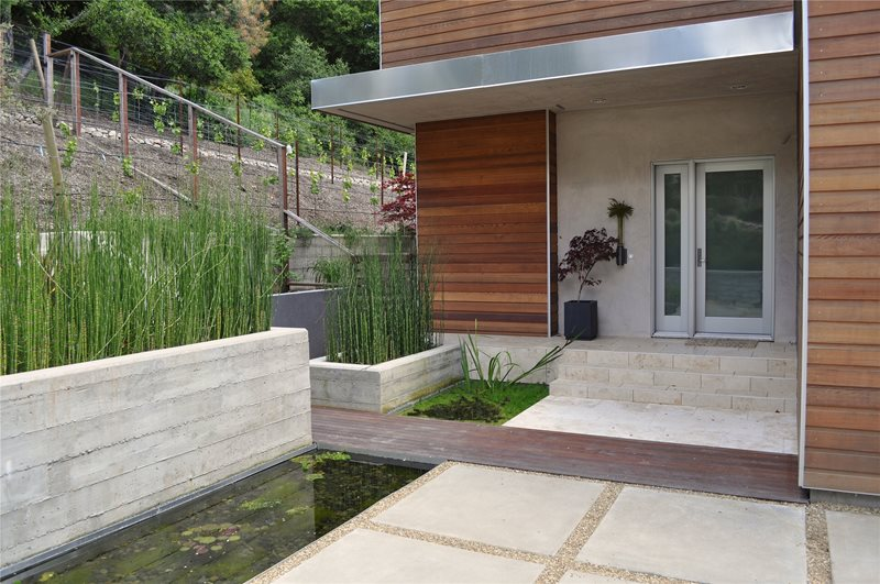 Modern House Front Porch