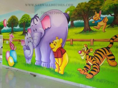 wall painting for preschool Path Decorations Pictures Full Path