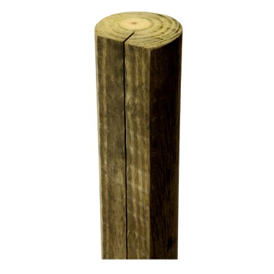 Shop Treated Wood Fence Line Post (Common: 4-ft; Actual ...