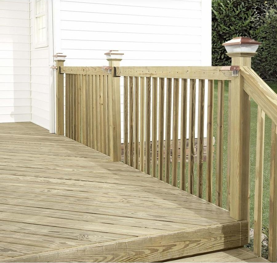 Severe Weather 2 In X 8 In X 8 Ft 2 Prime Pressure Treated Lumber | Pressure Treated Deck Handrail | Real Wood | Light Color | Deck Board | Southern Yellow Pine | Decking