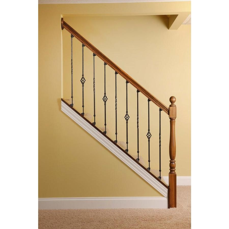 Ole Iron Slides Adjustable 26 75 In Satin Black Wrought Iron | Wrought Iron Railings Lowes | Stair Balusters | Lowes Cost | Deck Railing | Baluster | Stairs