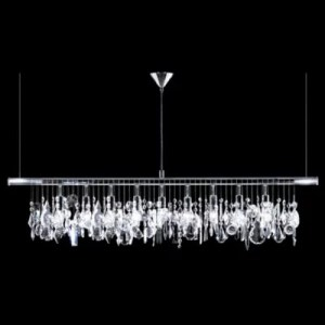 Crystal Ceiling Lights   Crystal Pendants   Chandeliers at Lumens com Broadway Linear Crystal Chandelier