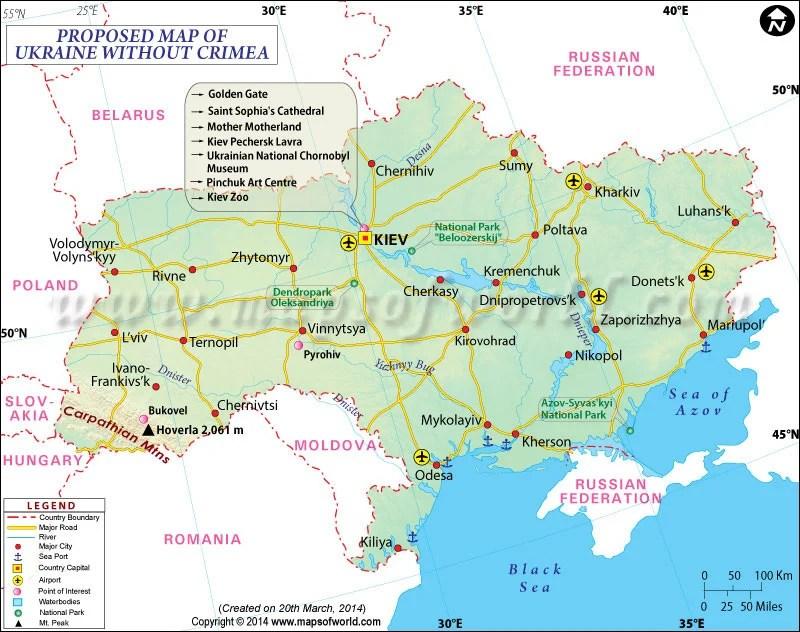 Ukrane Map Crimea Russa