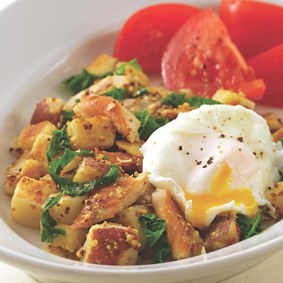 Smoked Trout Hash With Mustard Greens Recipe Eatingwell