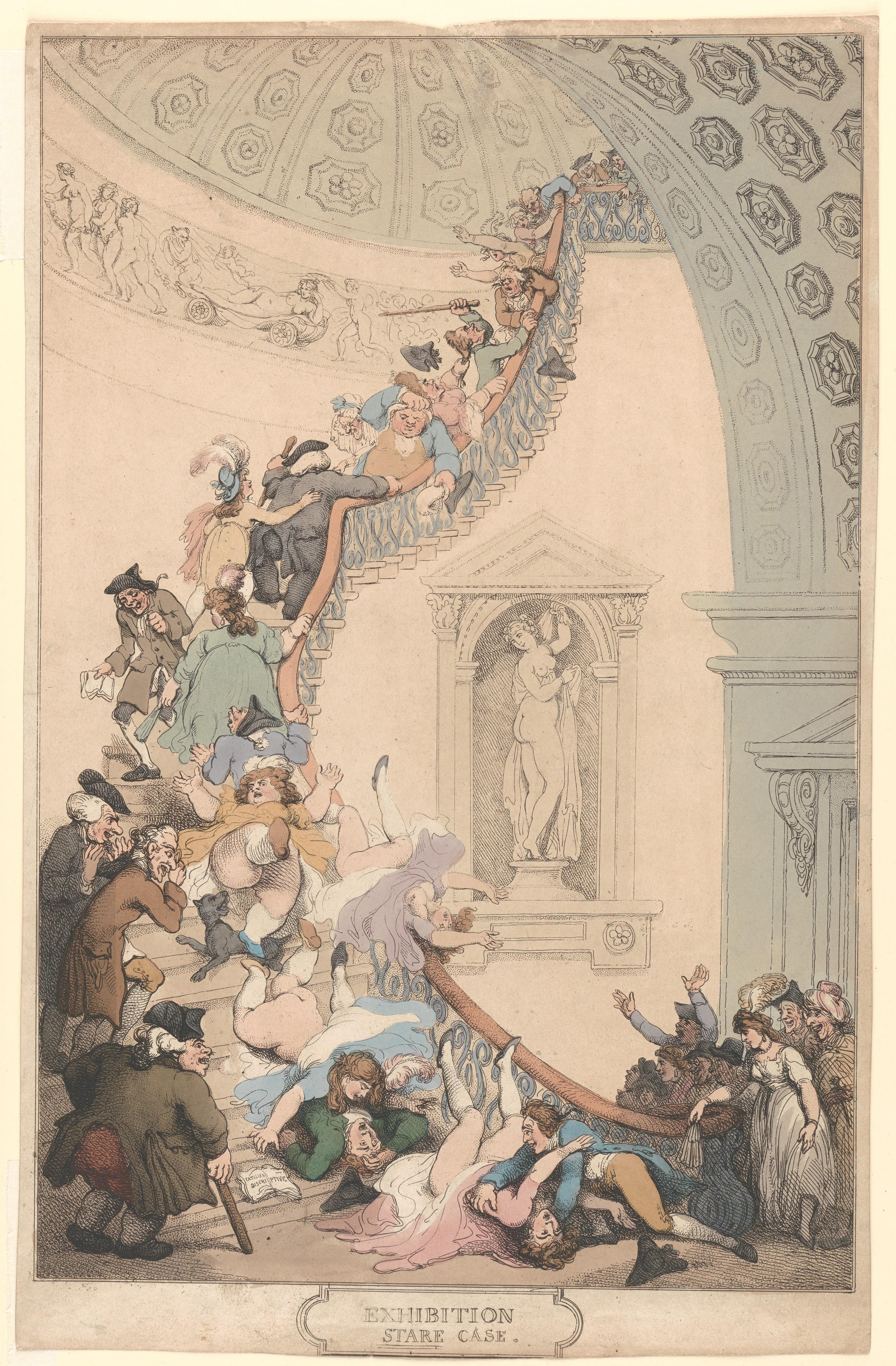 Thomas Rowlandson Exhibition Quot Stare Quot Case The Met
