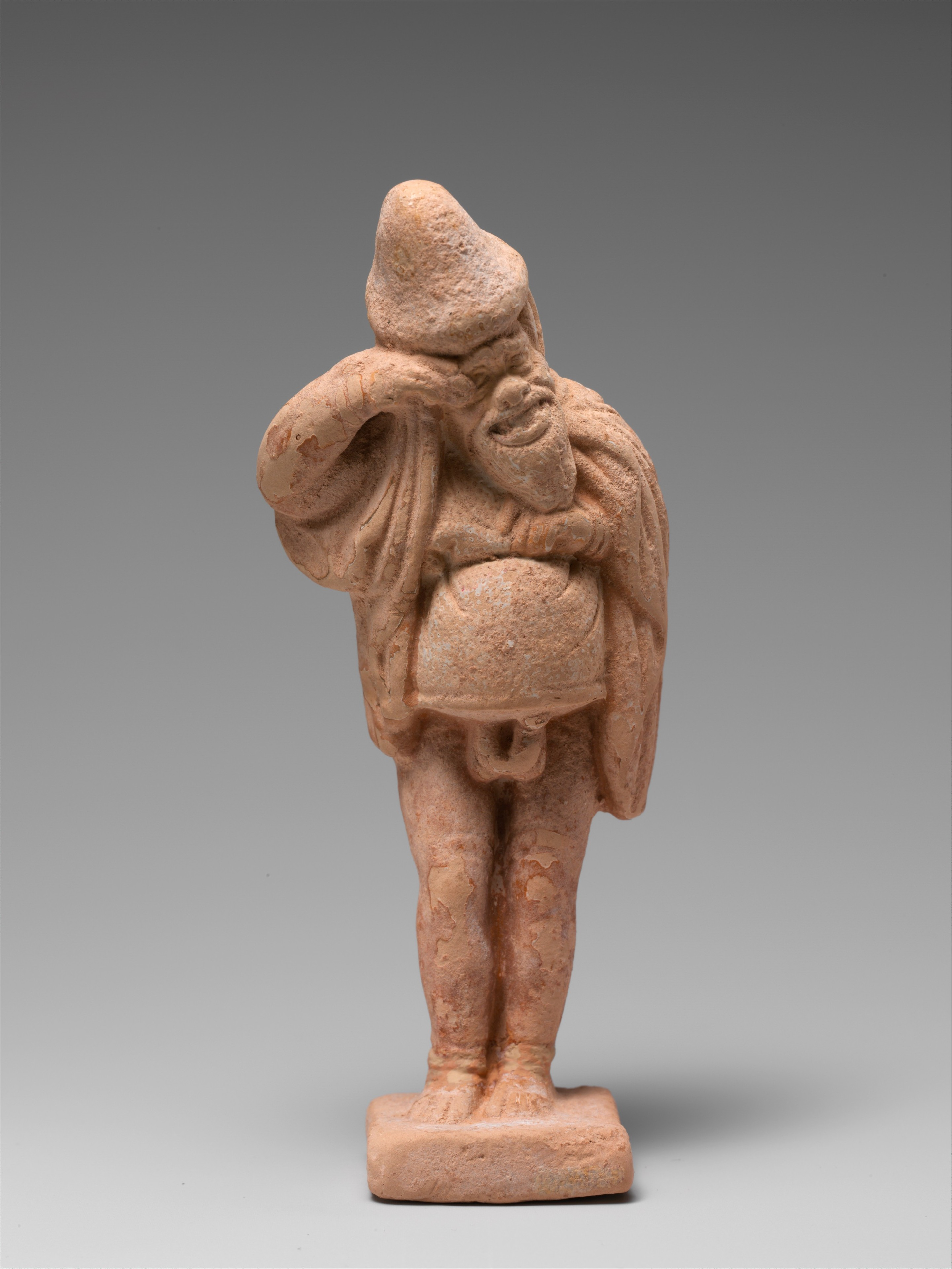 Terracotta Statuette Of An Actor Greek Late Classical