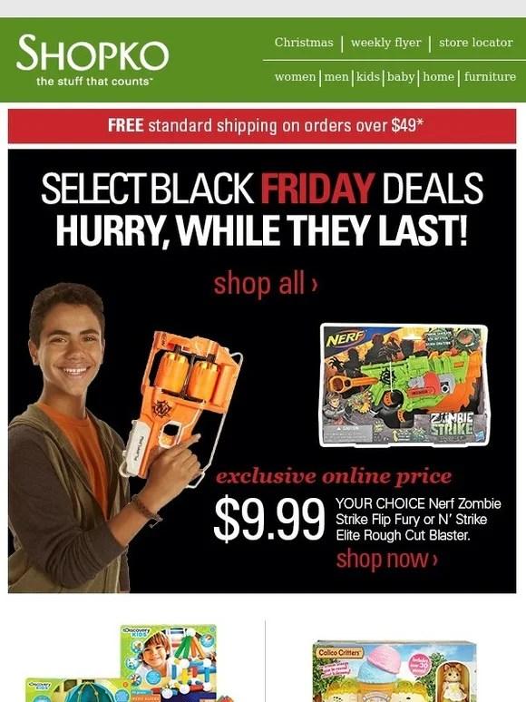 Shopko: Black Friday Deals on Select Toys & Electronics ...