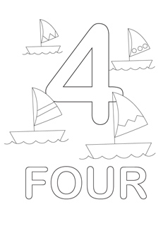 number 2 coloring page # 41