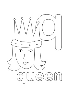 letter q coloring page # 8