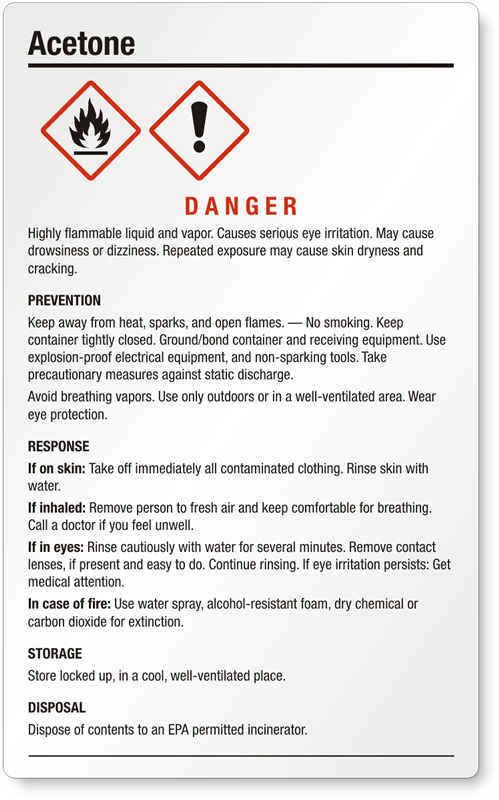 Labels Black Red And Liquid Flammable