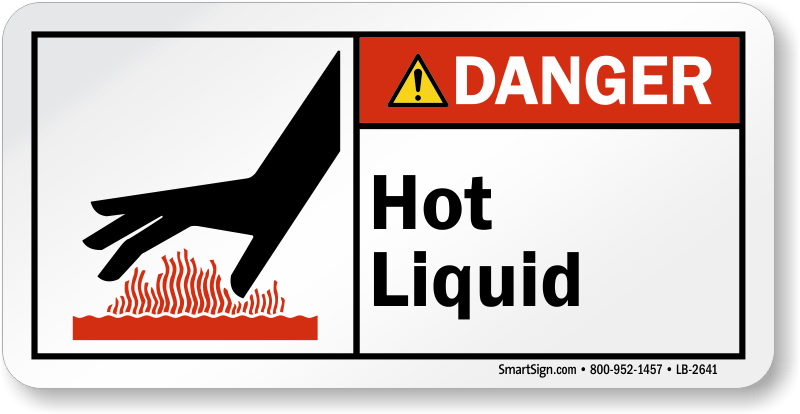 Flammable Labels Red Liquid And Black