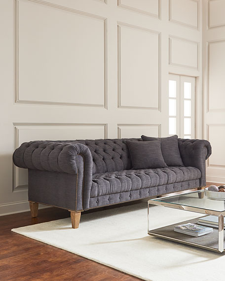 Capricia Tufted Chesterfield Sofa   Neiman Marcus Capricia Tufted Chesterfield Sofa