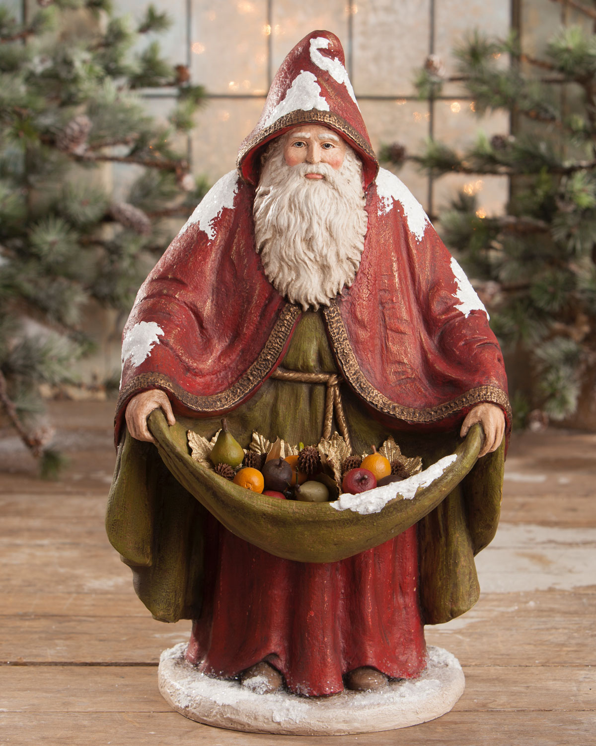 Bethany Lowe Traditional Old World Santa Statue Neiman