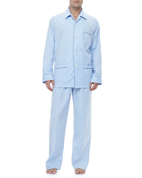 Boys Blue Piped Pajamas